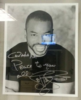 LeVar Burton's signed photo in the CTV Green Room