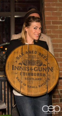 After Work Drinks Toronto 8 — #AWDTO — Amanda with the Innis & Gunn barrel top