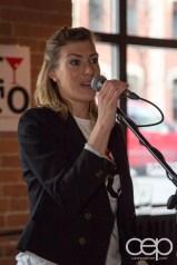 After Work Drinks Toronto 8 — #AWDTO — Amanda Blake addressing the crowd