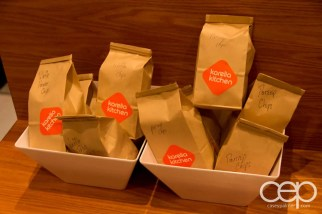 Some options of take-out bagged snacks at Karelia Kitchen