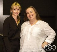 Kirstine Stewart and Christine Pantazis at the Women's Brain Health Initiative launch party.