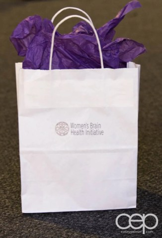 The gift bag at the Women's Brain Health Initiative launch party.