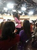 Tracy Moore interacting with the CityLine audience of April 1, 2013.