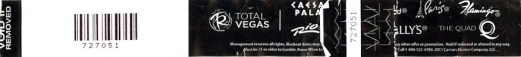 BiSC and Las Vegas 2013 — Total Rewards Buffet of Buffets Wristband