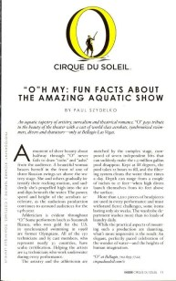 "BiSC and Las Vegas 2013 — The Bellagio — Cirque du Soleil ""O"" — Magazine Write-Up"