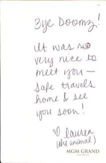 BiSC and Las Vegas 2013 — Goodbye Note from Lauren