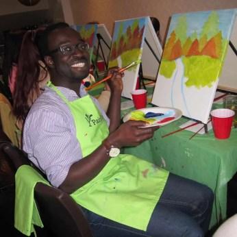#BuytopiaPaintNite — Paint Nite Toronto — Banu — Casey Palmer getting creative