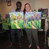#BuytopiaPaintNite — Paint Nite Toronto — Banu — Casey Palmer and Christine Pantazis