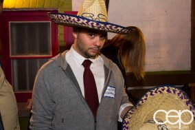 TacoTweetup — James Rubec and his new friend Sombrero
