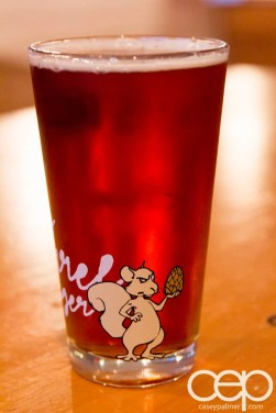 Viamede Resort & Dining — The Boathouse Pub — Barking Squirrel Lager Glass Back