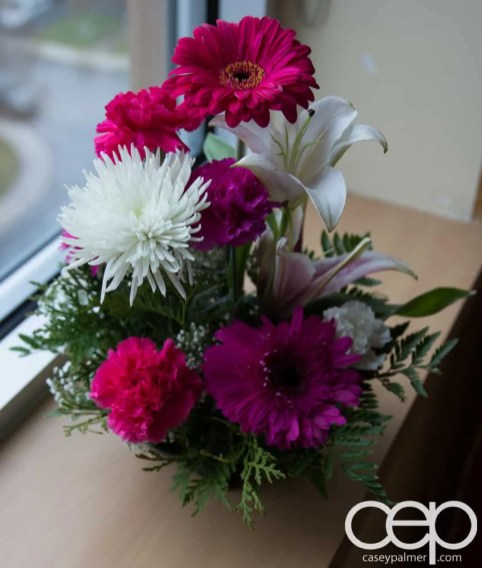 The DoomzToo Birth Story — DoomzToo's Birth — Post-Partum Room — Flowers from the Dutch Community