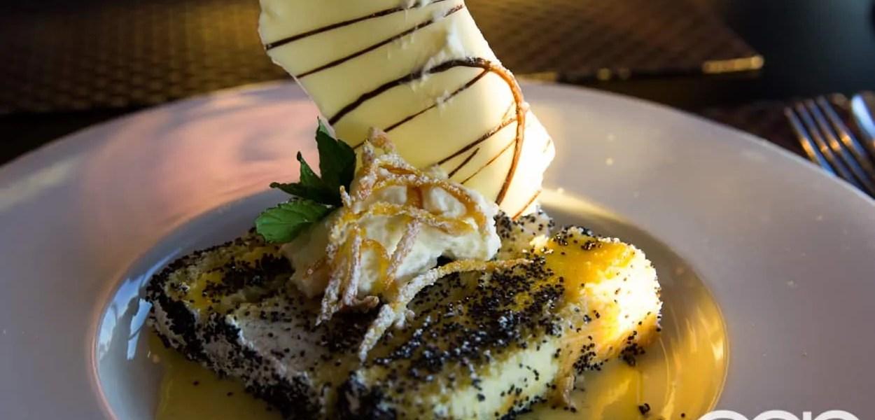CN Tower — 360 - The Restaurant at the CN Tower — Summer Menu - Prix Fixe — LEMON POPPY SEED CUSTARD TORTE