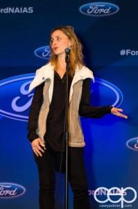 #FordNAIAS 2014 — Day 1 — The Westin Lindbergh Ballroom — Dinner Event — The Moth Storytelling Presentation — Amy Brill
