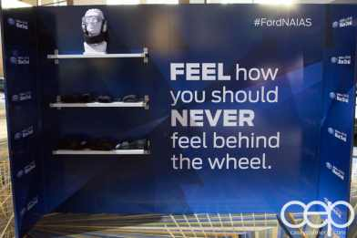 #FordNAIAS 2014 — Day 2 — Behind the Blue Oval — Safe — FEEL how you should NEVER feel behind the wheel.