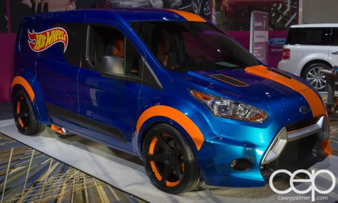 #FordNAIAS 2014 — Day 2 — Cobo Hall — Behind the Blue Oval — Quality — Hot Wheels Transit Connect Van