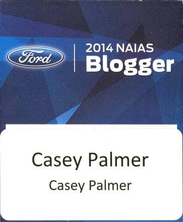 #FordNAIAS 2014 — Day 1 — 2014 NAIAS Blogger — Casey Palmer, CaseyPalmer.com