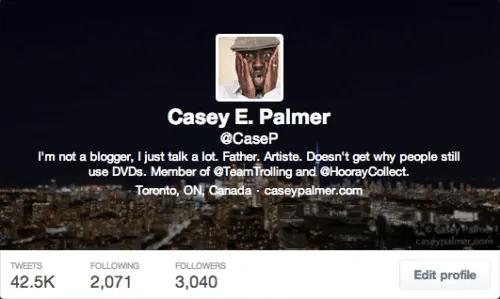 #100HappyDays — Day 25 — @CaseP Twitter Bio Screenshot