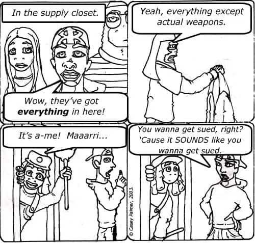 #100HappyDays — Day 28 — Fish 'n' Chimps — Comic #46 — Getting Ready to Come Out of the Closet