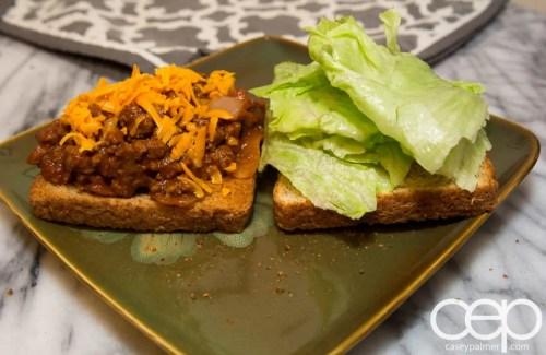 Dempster's DIYSandwich—Sloppy Joes—Sandwich Open Angle