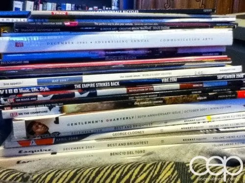 The Art of Marketing — Toronto 2014 — Stack of Magazines