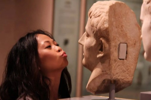 Royal Ontario Museum — FNLROM June 12 2012 —  Lily and a Statue