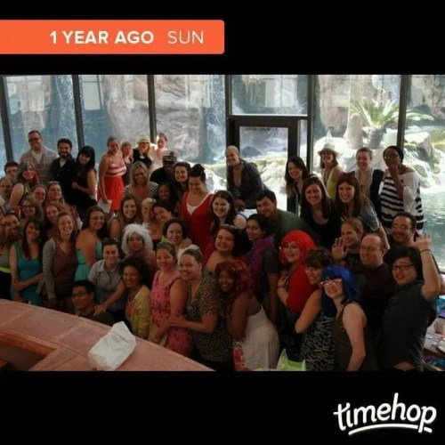 Timehop — 1 Year Ago — Bloggers in Sin City — Group Shot
