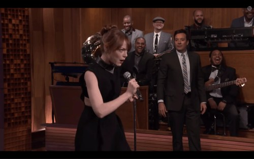 The Tonight Show with Jimmy Fallon—Special Guest Emma Stone—Lip Sync Battle—Entering Luda's Verse