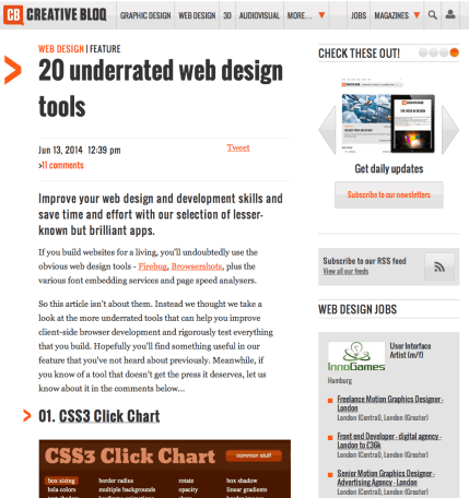 10 Links You Should Click — Creative Bloq ||20 underrated web design tools