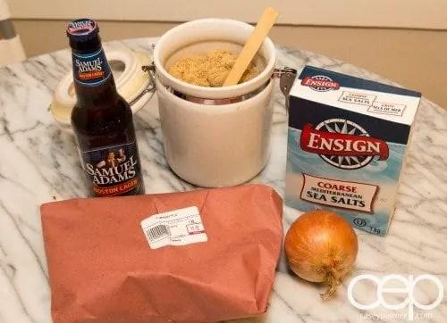 #SamInHand — Beer-Brined Pork Chops — Brine Ingredients