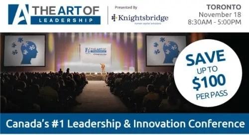 The Art of Leadership — Toronto 2014 — The Art of Leadership Promo Pic