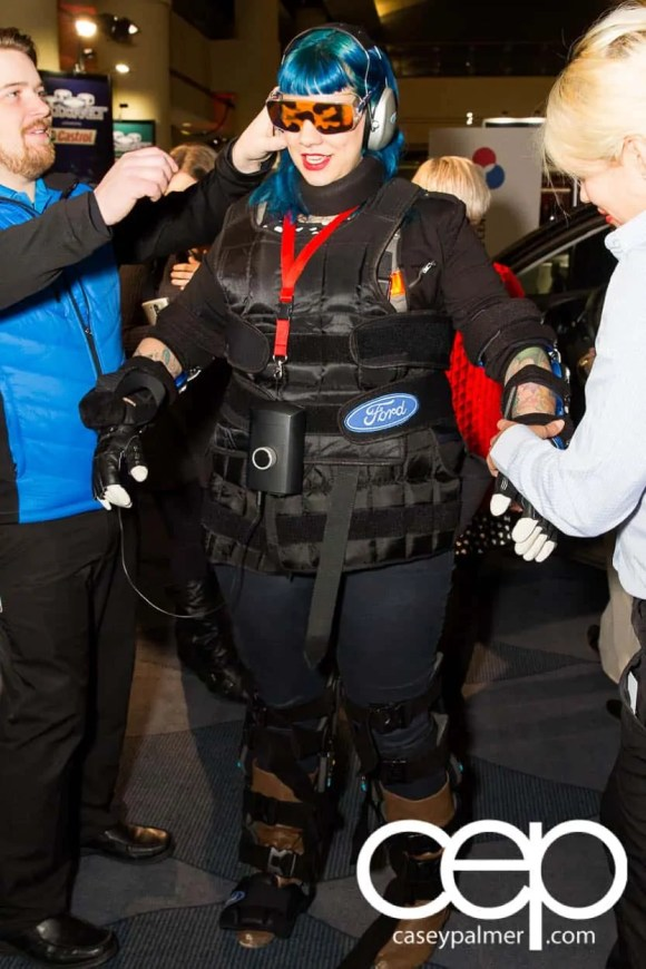 #FordCIAS — 2015 Canadian International Auto Show — @ThatMomKaren Donning the Third-Age Suit