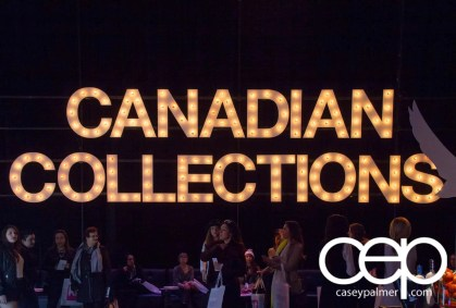 2015 World MasterCard Fashion Week — Toronto — Canadian Collections Sign
