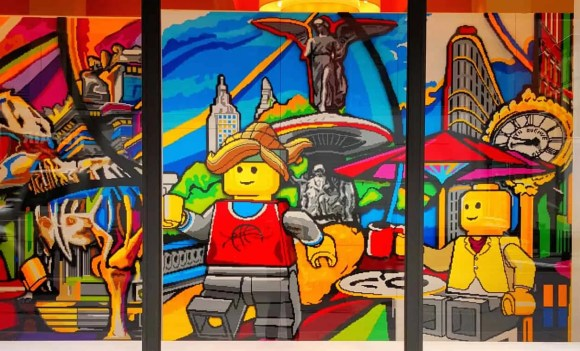 Casey Palmer x Swiffer Present—36 Hours in NYC—5th Avenue Legoland Mural 1