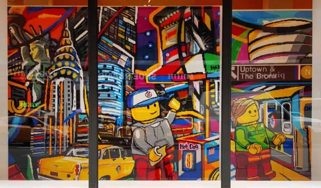 Casey Palmer x Swiffer Present — 36 Hours in NYC — 5th Avenue Legoland Mural 2