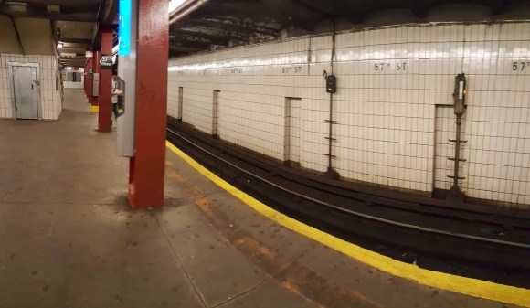 Casey Palmer x Swiffer Present—36 Hours in NYC—57th Street Metro Platform Red Line Southbound