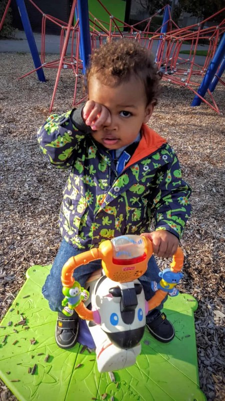 The Week That Was... October 4-10, 2015—Little Man at the Playground Seeing What He Can See Through His Handy Spyglass