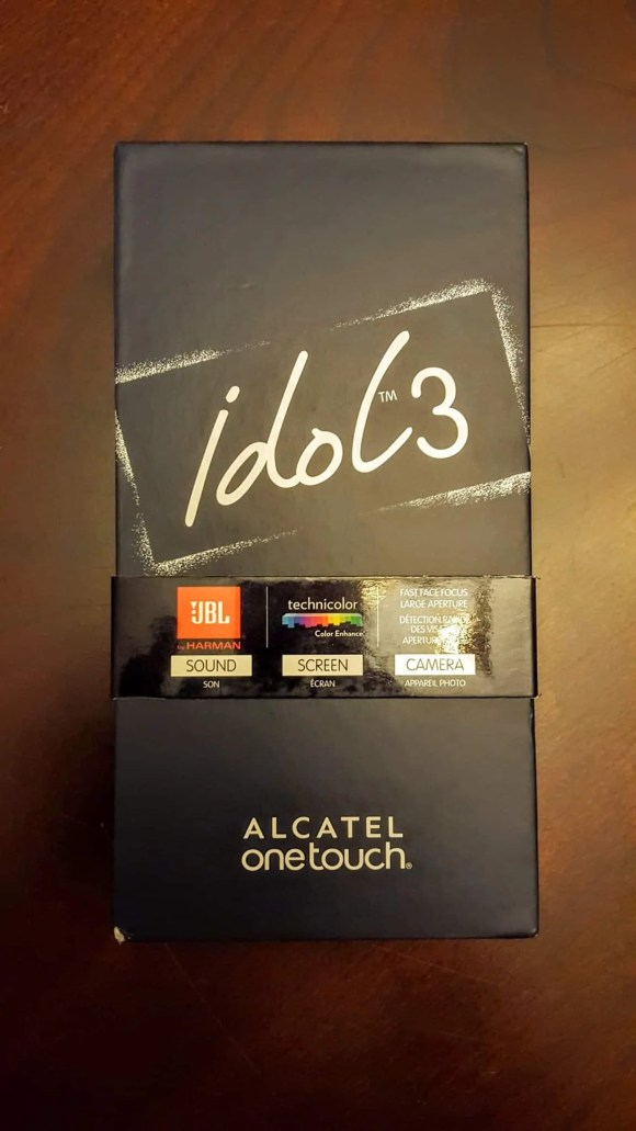 A Case Cringle Christmas, Day 1 — Keep Your Phone Game on Fleek with the Alcatel onetouch Idol 3 — The Alcatel onetouch Idol 3 Box