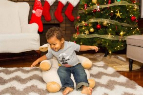 A Case Cringle Christmas, Day 2 — My Toddler, Me and a Little Cloud b! — Little Man Learning to Sit in the Cuddly Comfeez Sleep Sheep