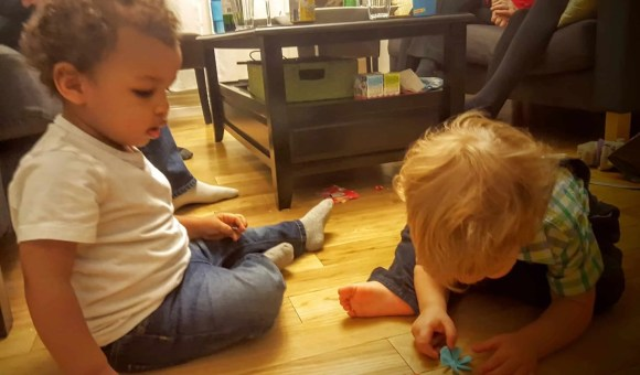 The Month That Was... November 22nd - December 26th, 2015 — Christmas Eve with the de Bruyns — Little Man and His Cousin Playing