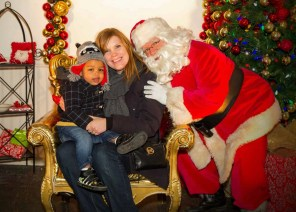 The Month That Was... November 22nd - December 26th, 2015 — Toronto Christmas Market — Sarah and Little Man Visiting Santa