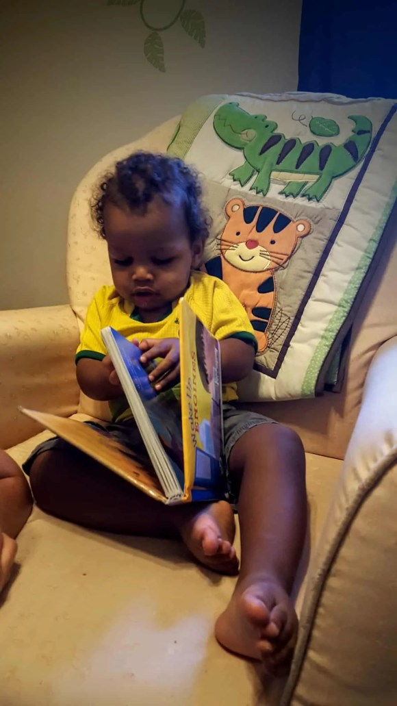 The Life and Times of Casey Palmer—Return to Form—Little Man Reading to Himself