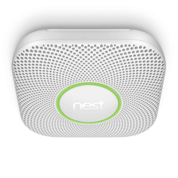 Building a Smarter Home with TELUS, Part One—The Things You Detect with a Nest Protect—Nest Protect White Mounted on Ceiling
