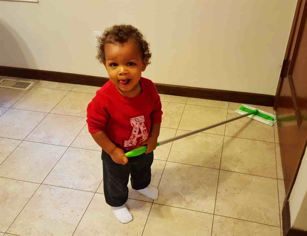 "Saying ""Yes"" to the Mess — How Swiffer Helps with the Hot Mess of Parenting — Little Man Loves to Clean with Swiffer"