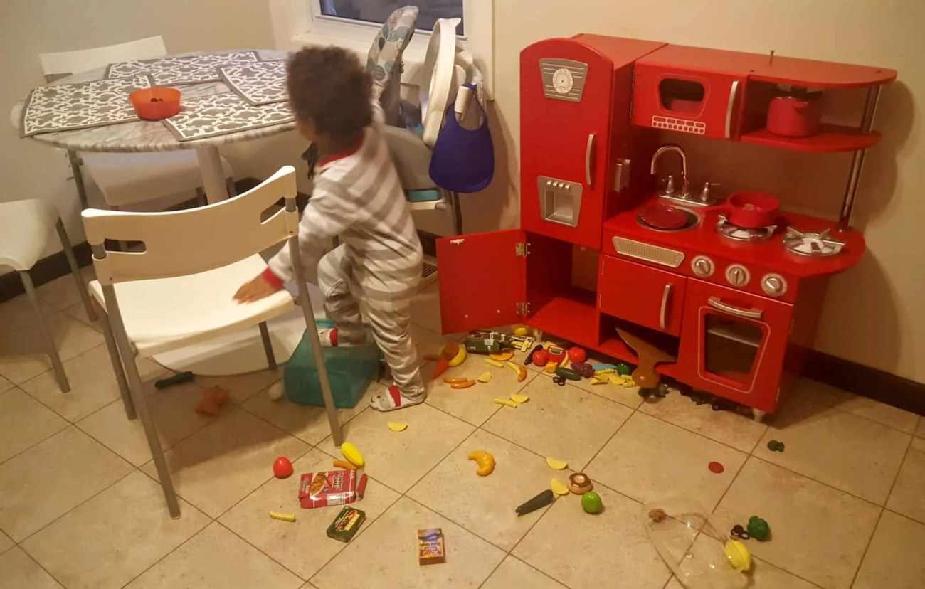 "Saying ""Yes"" to the Mess — How Swiffer Helps with the Hot Mess of Parenting — The Messy Play Kitchen"