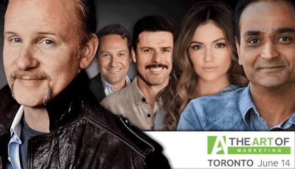The Art of Marketing Toronto 2016—What's Left to Learn at The Art of Marketing—Speakers' Images (Morgan Spurlock, Stephen Shapiro, Adam Garone, Bethany Mota, Avinash Kaushik)