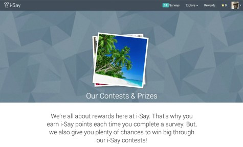 A Penny for Your Thoughts — Get Rewarded for Your Opinions with Ipsos i-Say! — Our Contests and Prizes