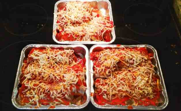 Let's Taco 'Bout It, Chapter One — Solving Dinnertime Dilemmas with Old El Paso! — Skinny Chicken Enchiladas — Chicken Enchiladas Ready to Go in the Oven