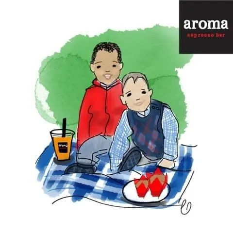 An Aroma Kidz Adventure — Why I Can't Take My Kidz ANYWHERE. — AromaKidz Drawing of the Palmer Boys by Chelsea Lundy