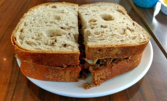 An Aroma Kidz Adventure—Why I Can't Take My Kidz ANYWHERE.—Steak and Egg Sandwich