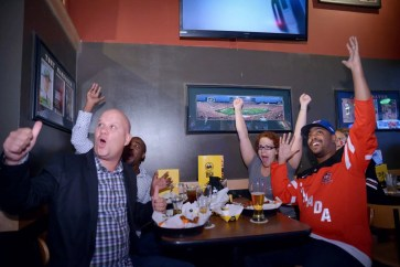 The Fastest Game on Earth Brought to You by Buffalo Wild Wings! — World Cup of Hockey at Buffalo Wild Wings — Adrian, Chris, Marcel and Marie